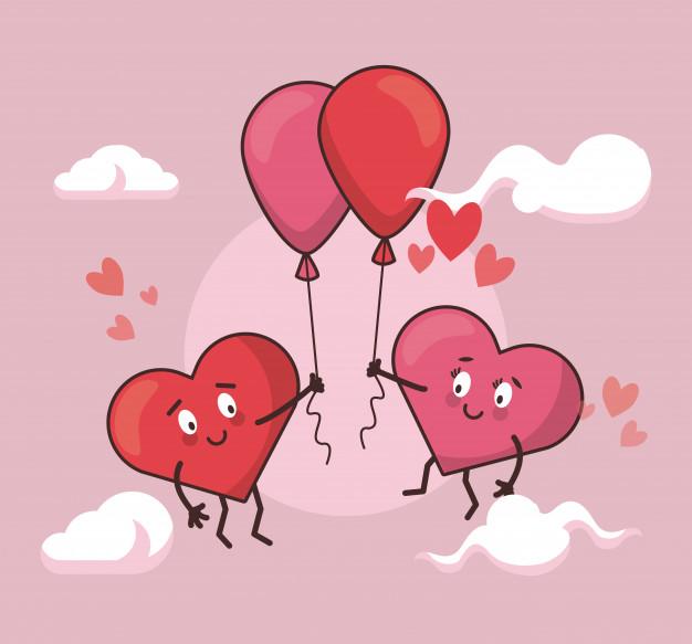 dibujos-animados-pareja-corazones-amor_18591-42106